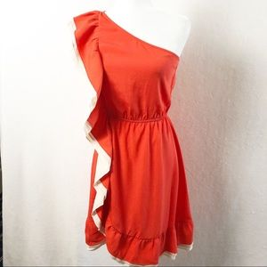 Chelsea & Violet One Shoulder Dress. Size Small